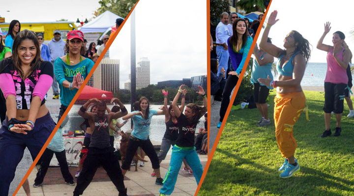 RhythmX Off Site Zumba classes in Orlando Florida