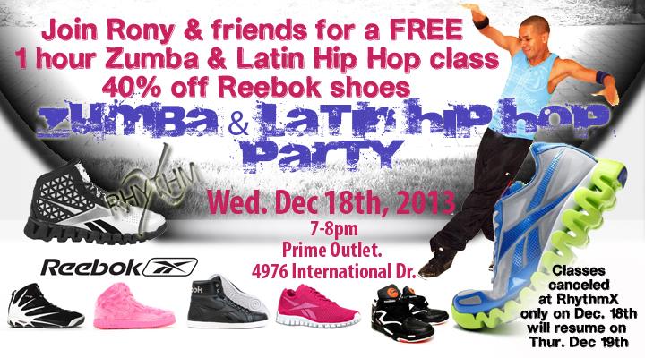 RhythmX dance show at Reebok store in Orlando Florida